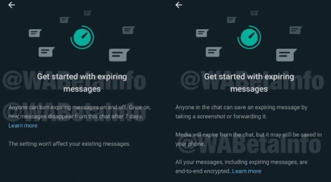 Upcoming WhatsApp feature: Expiring Messages