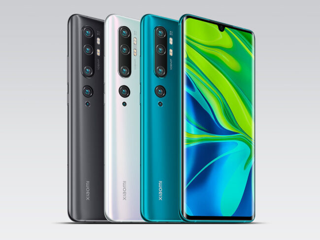 108MP camera smartphone Mi Note 10 Pro