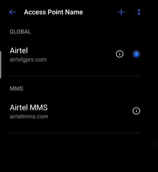 Increase internet speed in Airtel : step 3