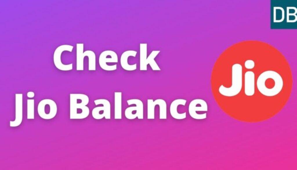 Check Jio Balance
