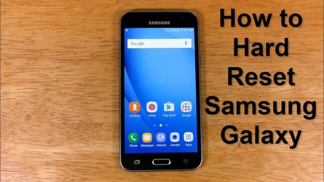 How to reset Samsung phone