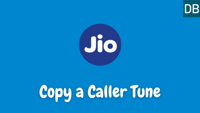 How to copy Jio tune from other number