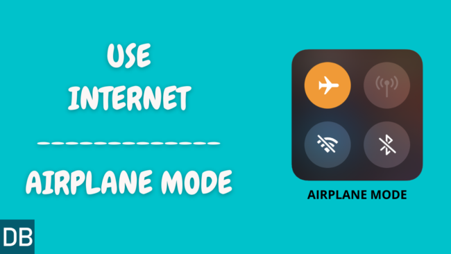 How to use internet in flight mode