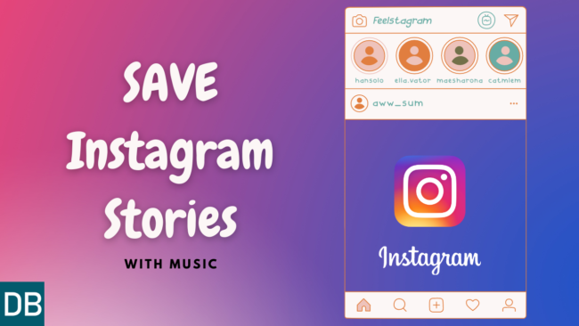 Save Instagram Stories with Music