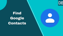 Contacts list in gmail