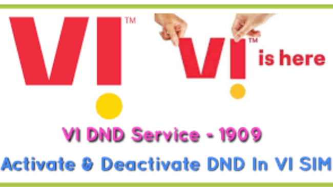 How to Activate DND on Vi 2021